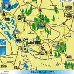 mapka ilustrująca uproszczony schemat niektórych tras rowerowych w powiecie wodzisławskim