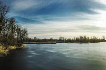 Fotografia. Dzieło. Grzegorz-Meisel-Zimowy-wschód-słońca-Olza