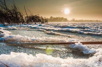 Fotografia. Dzieło. Szymon-Froncek-Zimowy-wschód-słońca-nad-Wielikątem