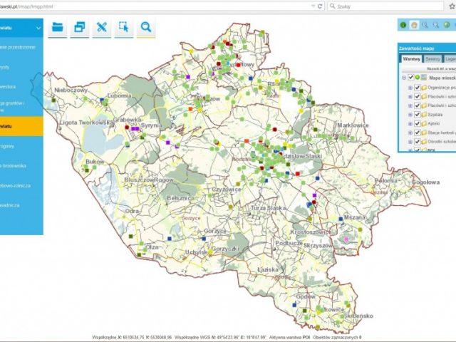 Grafika z Systemu Informacji Przestrzennej