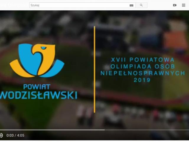 relacja filmowa z XVII Powiatowej Olimpiady Osób Niepełnosprawnych