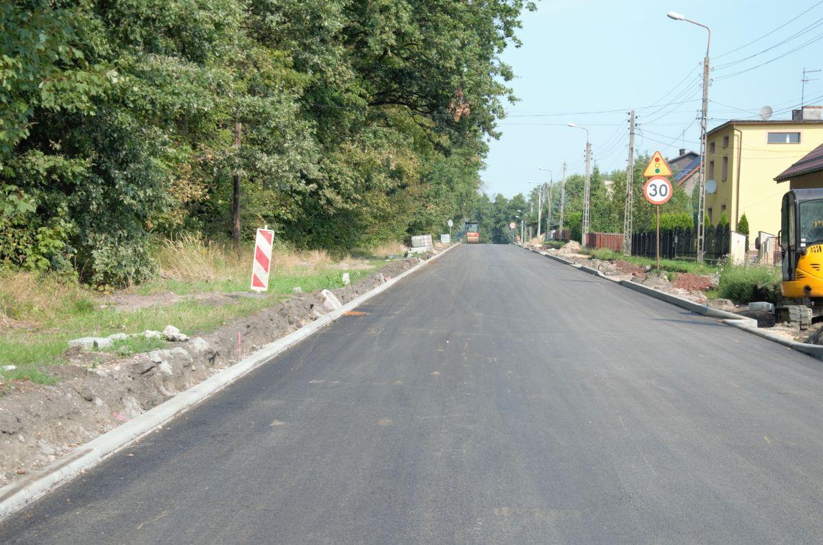 remont ulicy Raciborskiej w Gorzycach