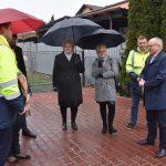 otwarcie ulicy Rymera z udziałem starosty Leszka Bizonia i burmistrz Radlina