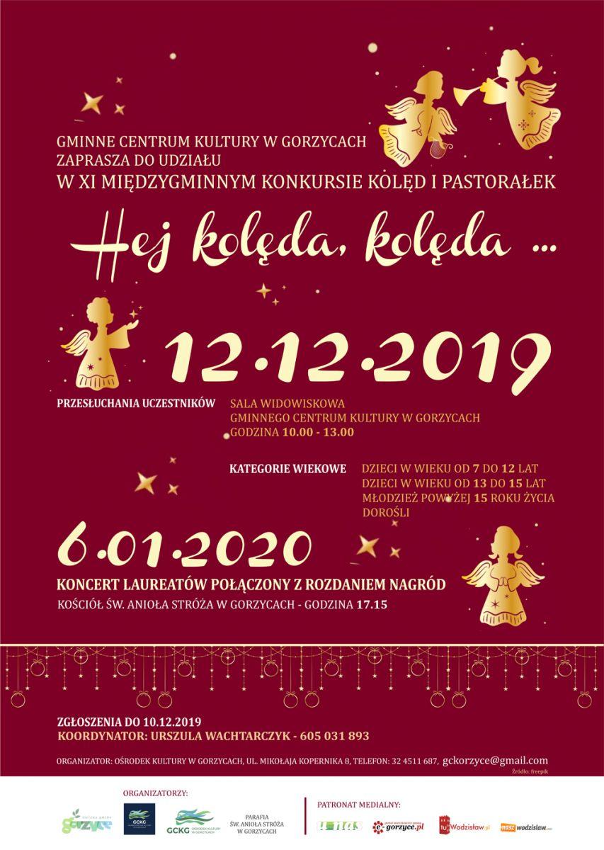 plakat XI międzygminny konkurs kolęd i pastorałek