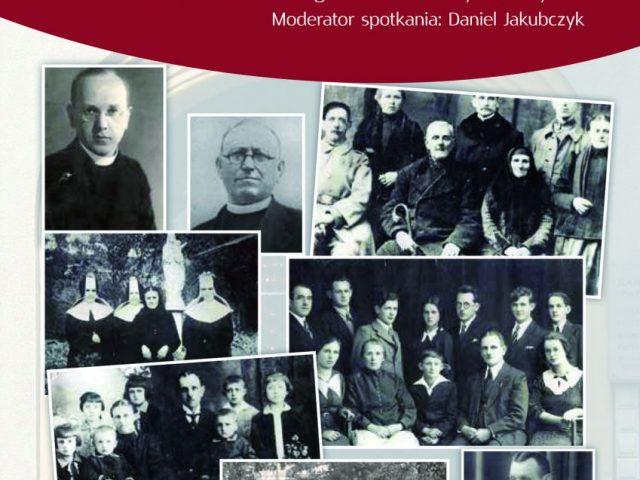 """plakat promocja książki """"Z człowiekiem i w rodzinie... Historie pisane w gminie gorzyce"""""""
