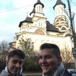 uczniowie i nauczyciele LO w Rydułtowach w Rumunii