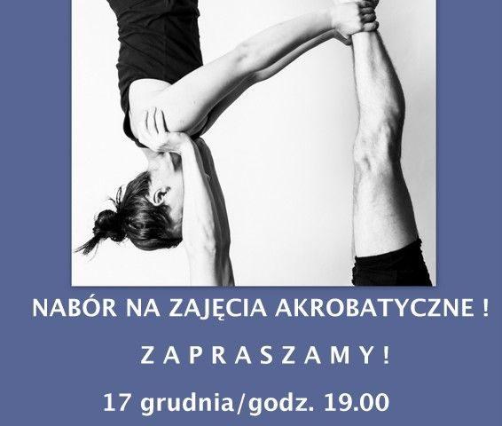 plakat nabór na zajęcia akrobatyczne