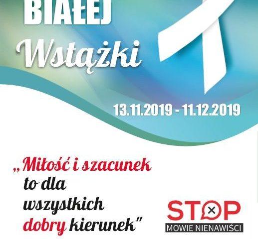plakat kampania białej wstążki