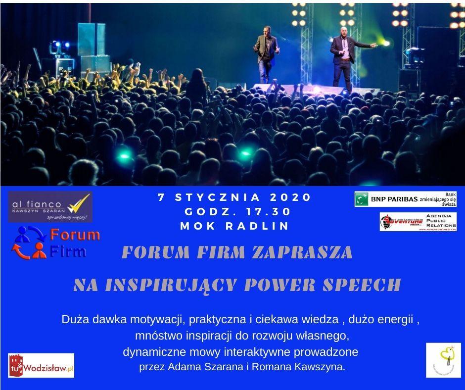 plakat inspirujący power speech
