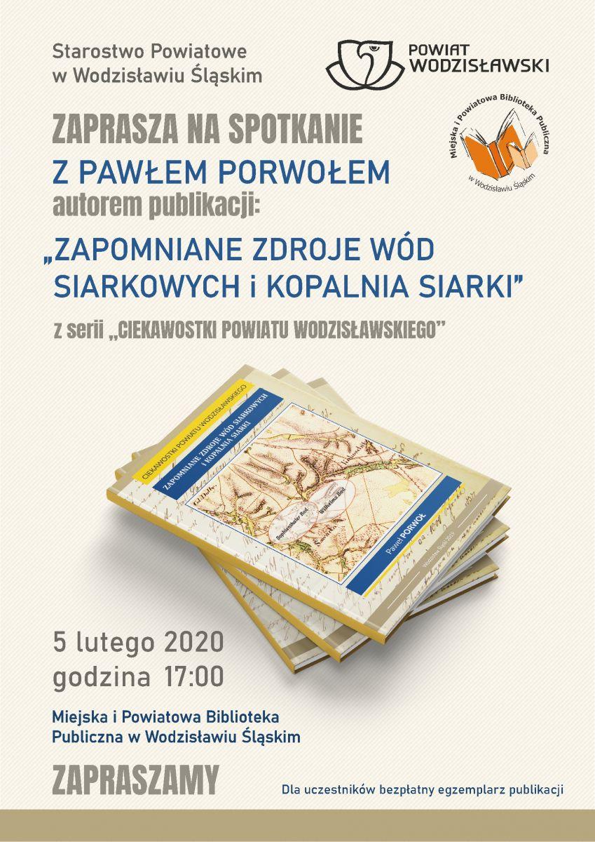plakat spotkanie autorskie z Pawłem Porwołem