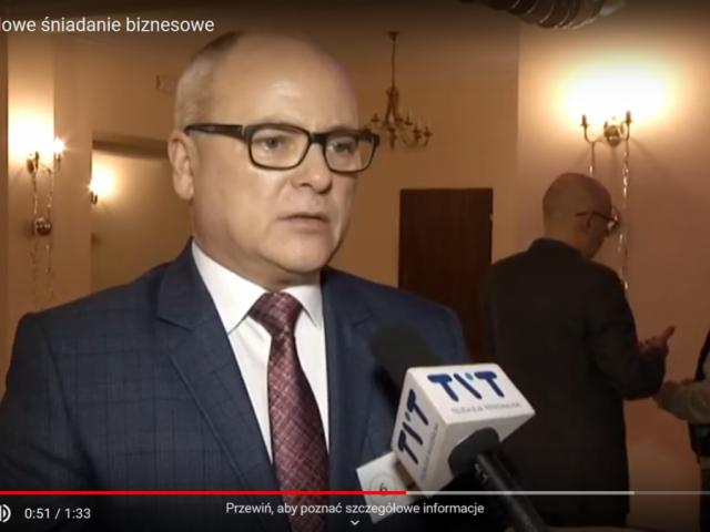 śniadanie biznesowe starosta Leszek Bizoń