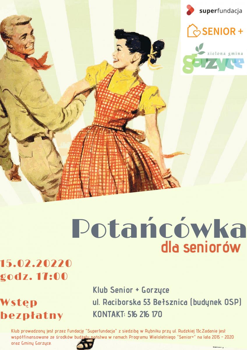 plakat potańcówka dla seniorów