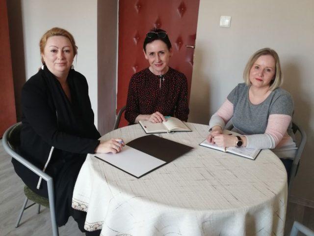 od lewej Aleksandra Witoszek, Irena Obiegły i Agnieszka Michalczuk-Nowak