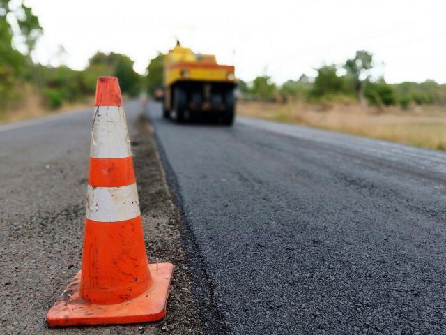 droga w trakcie budowy