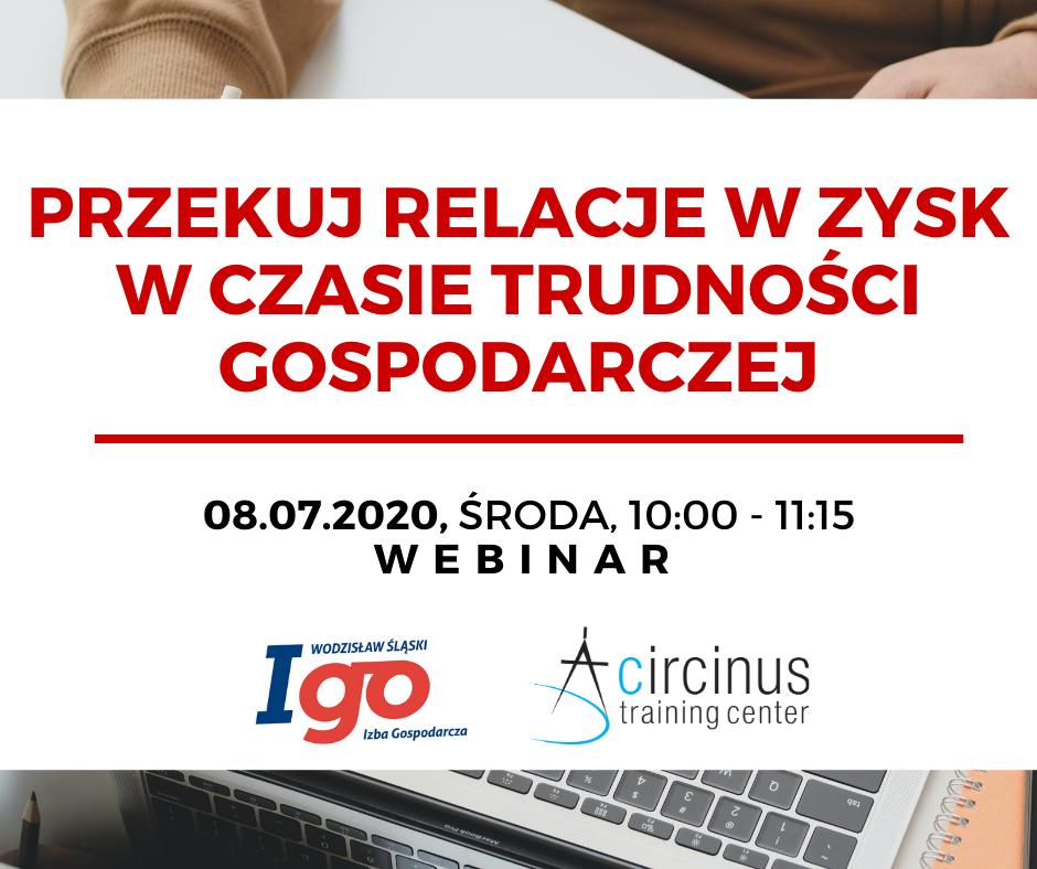 foto webinar Izba Gospodarcza Wodzisław 2 lipca 2020