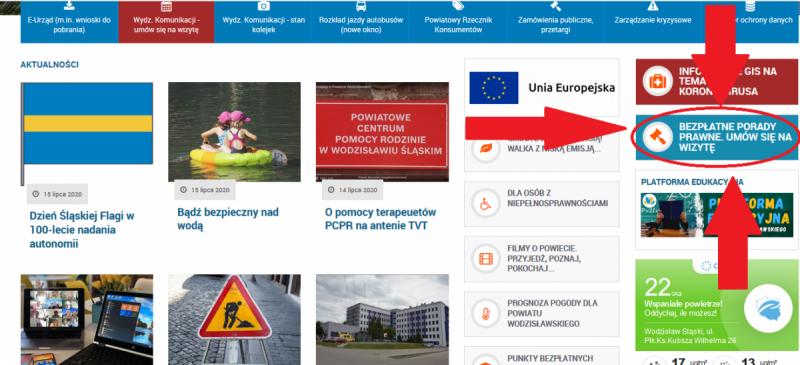 porady prawne rejestracja online ilustracja banerka na stronie