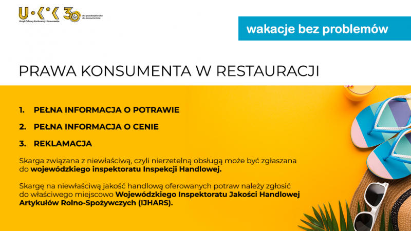 prawa konsumenta w restauracji