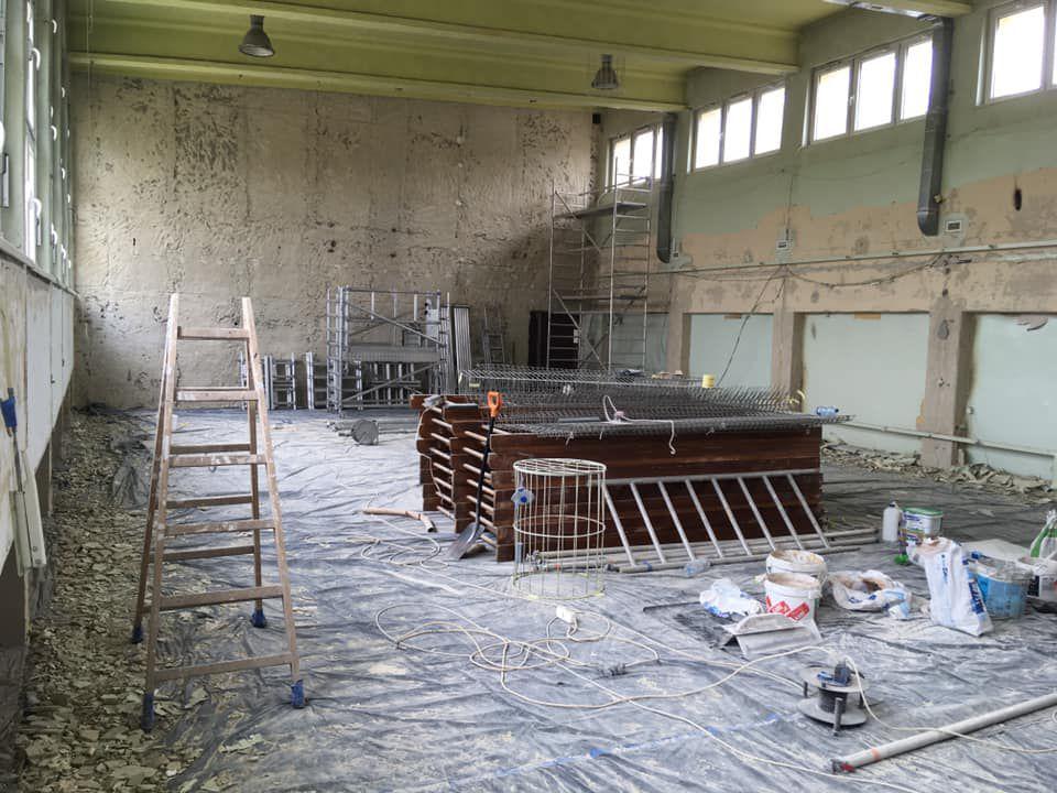 remont sali gimnastycznej w Tischnerze 1