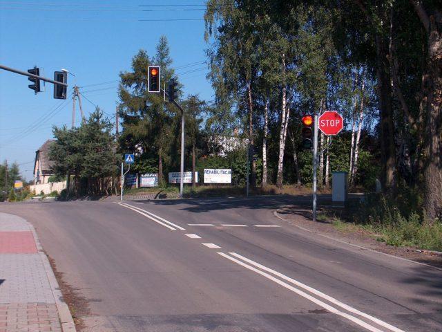 skrzyżowanie ulic 1 Maja, Skrzyszowskiej i Turskiej w Mszanie