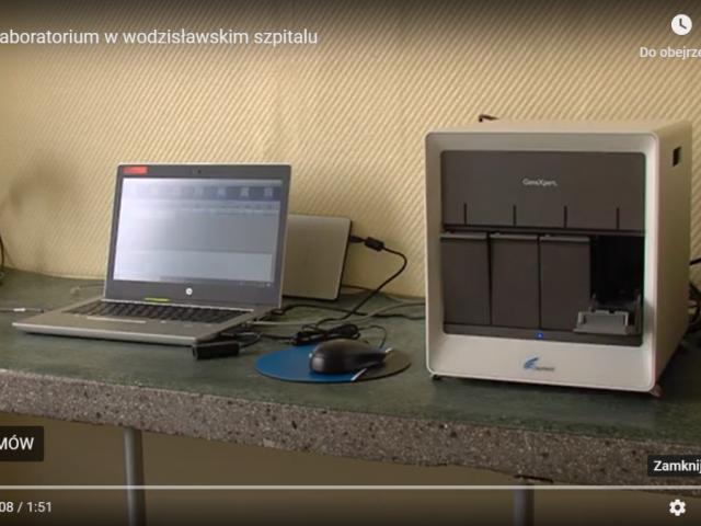 sprzęt do wykrywania koronawirusa w szpitalu w Wodzisławiu Śl.