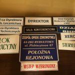 szpitalna izba pamięci w Rydułtowach tabliczki informacyjne