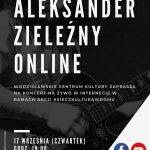 plakat - koncert Aleksandra Zieleźnego w WCK 17.09.2020 r.