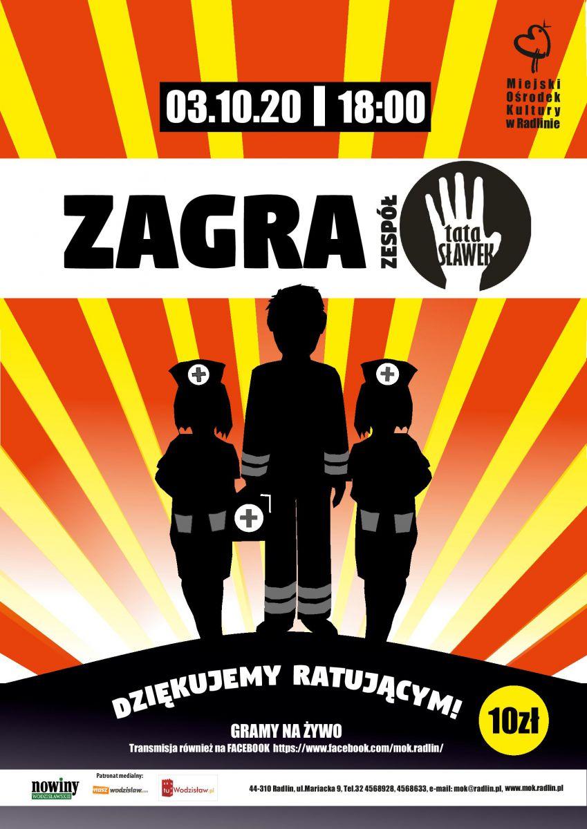 "koncert ""Tata Sławek"" 3.10. 2020 r. o godz.18.00 - MOK Radlin"