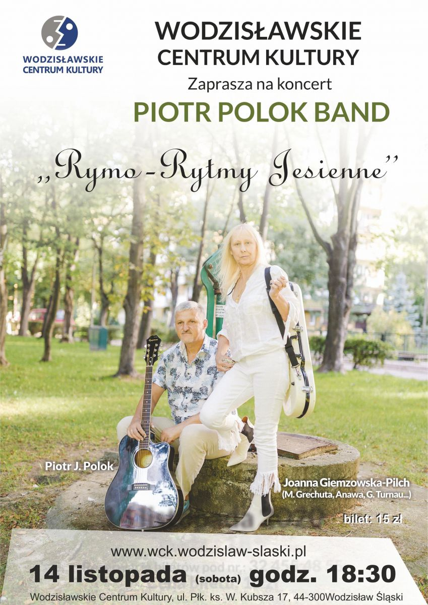 Plakat - Piotr Polok Band w WCK, 14.11.2020 r., godz.18.00