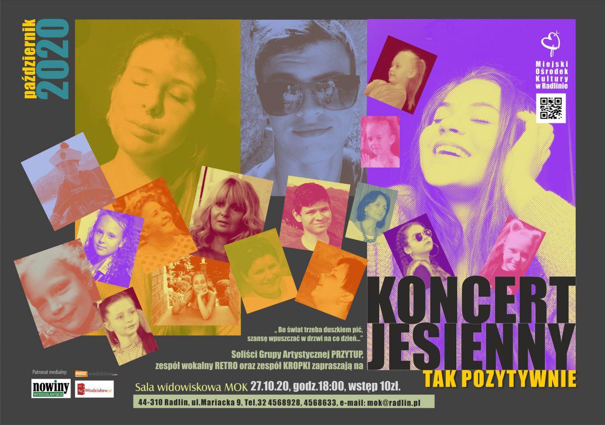 "Plakat - koncert ""Tak pozytywnie"" MOK Radlin"