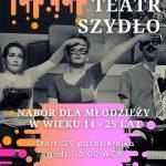 plakat - zapisy do Teatru Szydło w WCK