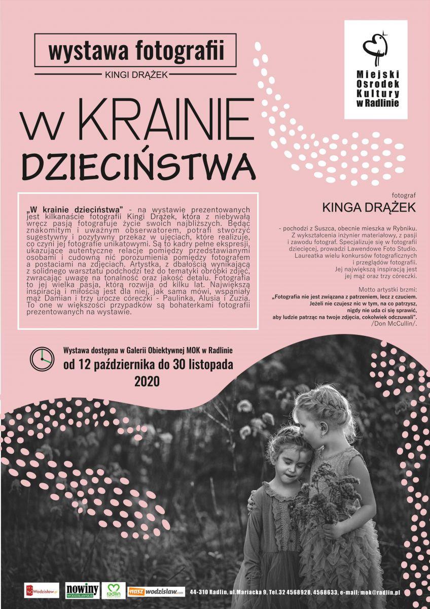 Plakat - wystawa fotografii Kingi Drążek
