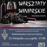 plakat - warsztaty winiarskie w WCK