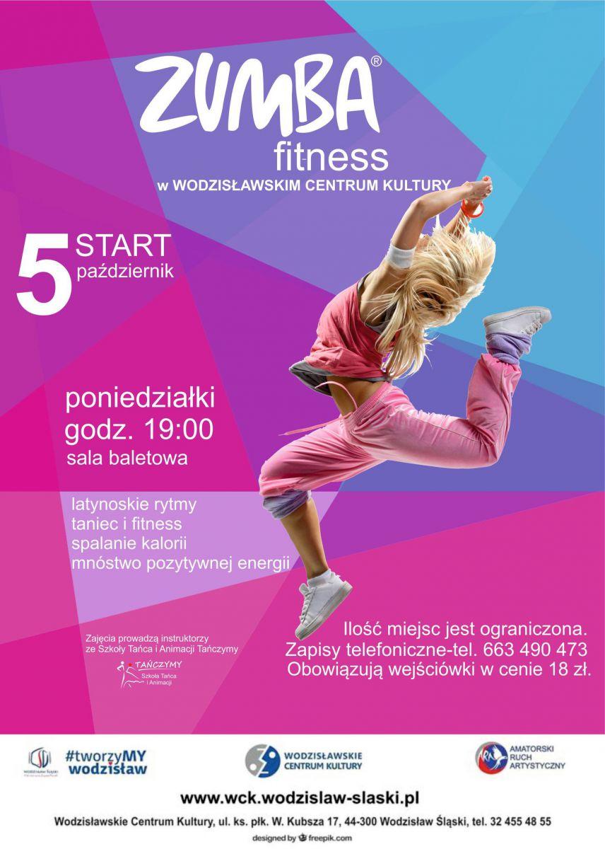 Plakat - zapisy na zajęcia z Zumby Fitness