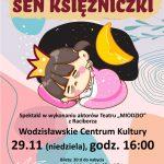 """plakat - spektakl """"Sen księżniczki"""" w WCK"""