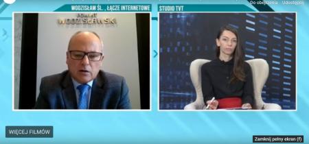 Starosta Leszek Bizoń gościem dnia w TVT 17 listopada 2020 r. czołówka