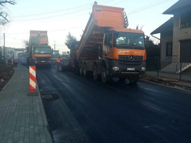 remont ul. Bohaterów Warszawy w Rydułtowach