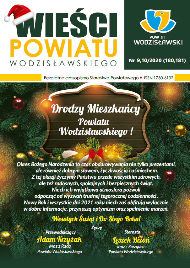 Wieści Powiatu Wodzisławskiego nr 9 i 10 z 2020 okładka