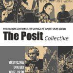 plakat, koncert The Posit w WCK
