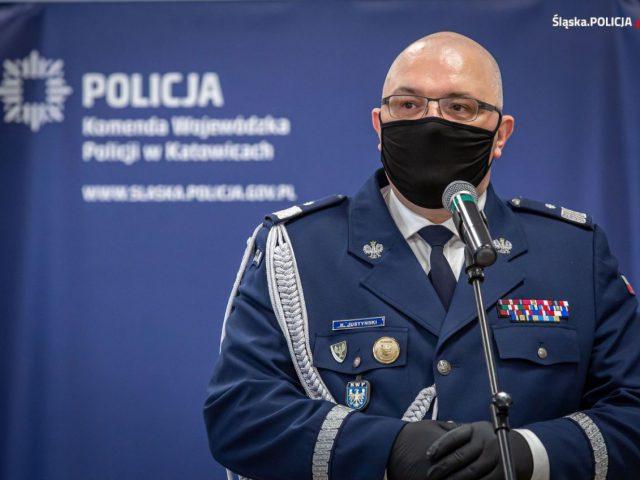 Komendant Wojewódzki Policji w Katowicach do 15.2.2021 dr Krzysztof Justyński, foto. KWP Katowice