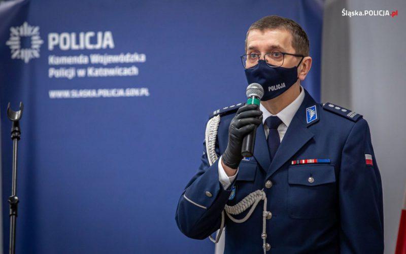 Komendant Wojewódzki Policji w Katowicach od 16.2.2021 insp. Roman Rabsztyn, foto. KWP Policji