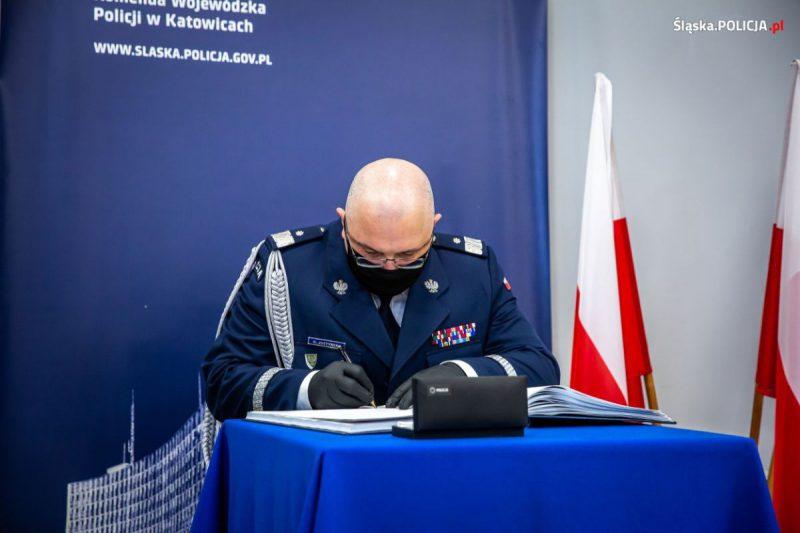 Komendant Wojewódzki Policji w Katowicach do 15.2.2021 dr Krzysztof Justyński, foto. KWP Policji