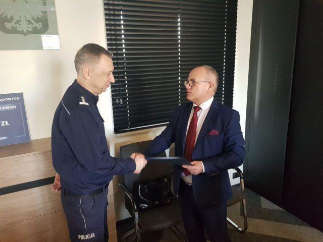 komendanta Grudziński i starosta Bizoń