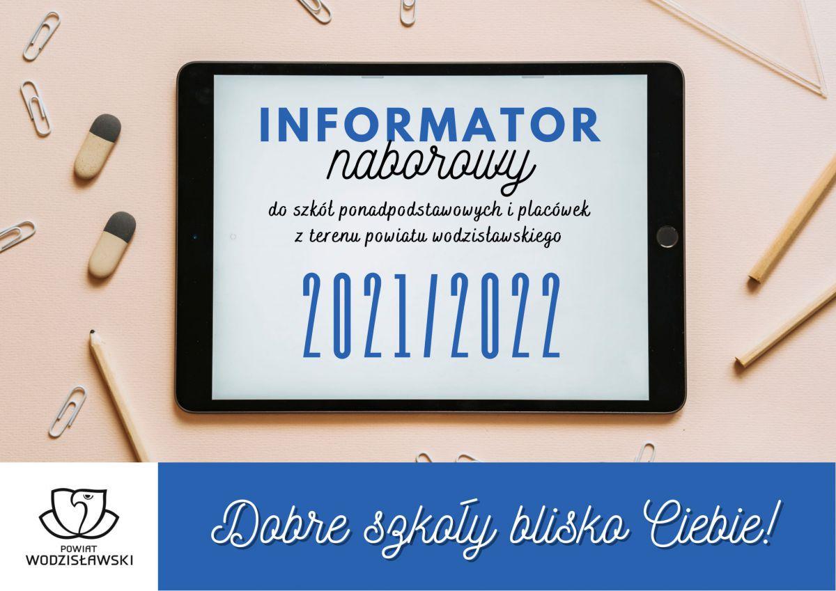 okładka informatora naborowego na rok szkolny 2021/2022