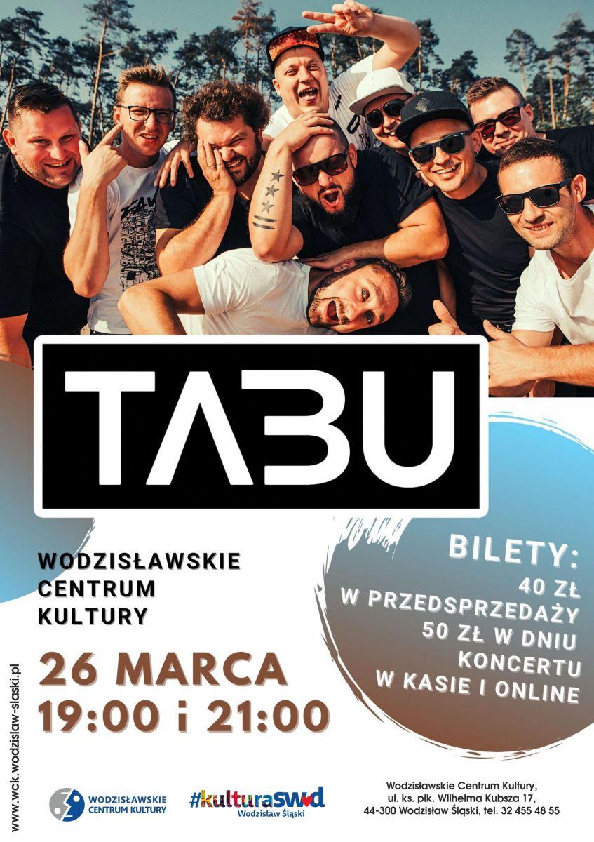 plakat - koncert zespołu Tabu w WCK