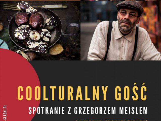 plakat - spotkanie z Grzegorzem Meislem w WCK
