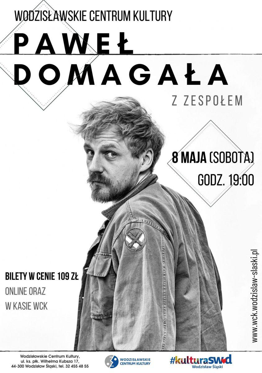 plakat - koncert Pawła Domagały z zespołem w WCK