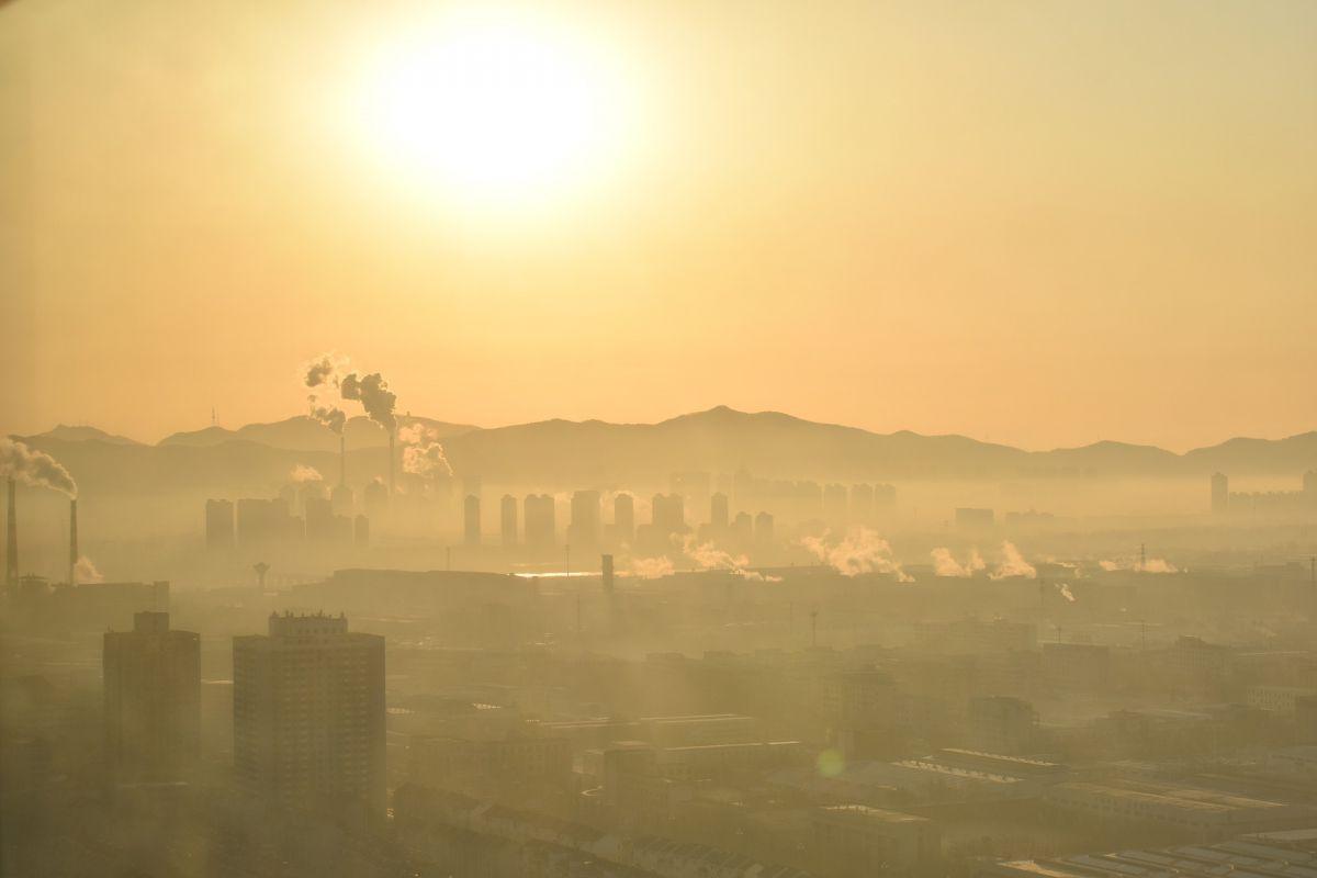 krajoibraz miejski w smogu