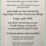 plakat - sesja na stulecie III powstania śląskiego