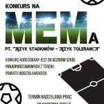 plakat - konkurs WCK na mema
