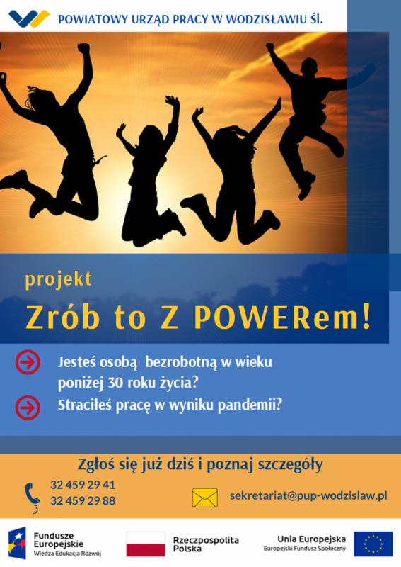 plakat promujący nabór do projektu Zrób to z powerem
